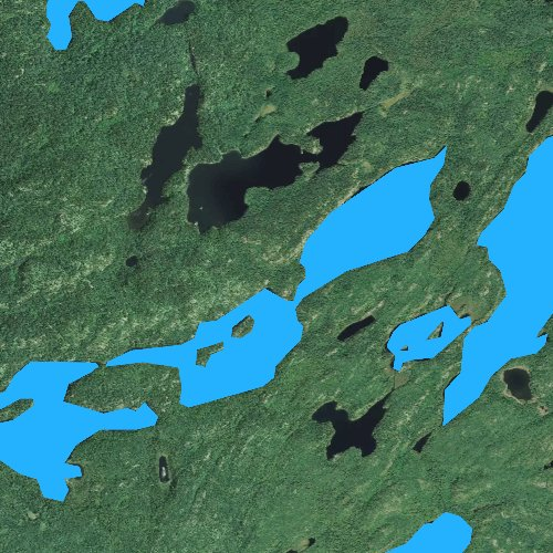 Fly fishing map for Cherry Lake, Minnesota