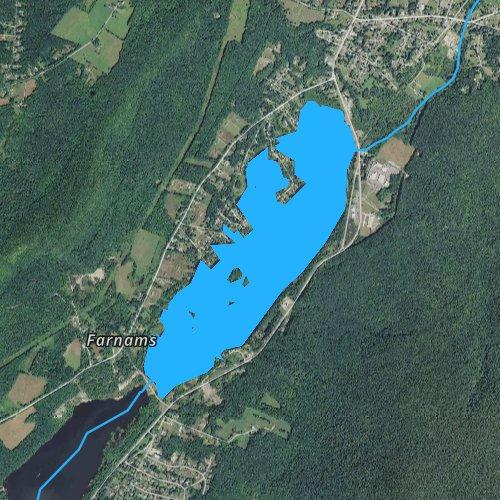 Fly fishing map for Cheshire Reservoir, Massachusetts