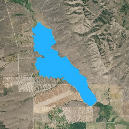 Fly fishing map for Chesterfield Reservoir, Idaho