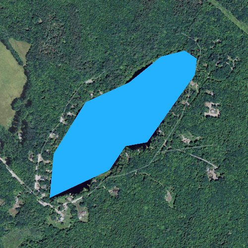 Fly fishing map for Chestnut Pond, New Hampshire