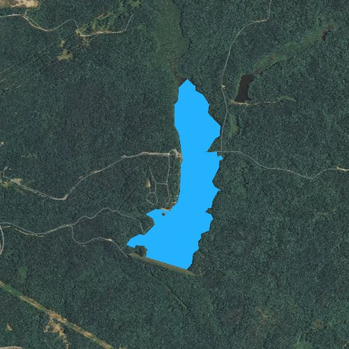 Fly fishing map for Chewalla Lake, Mississippi