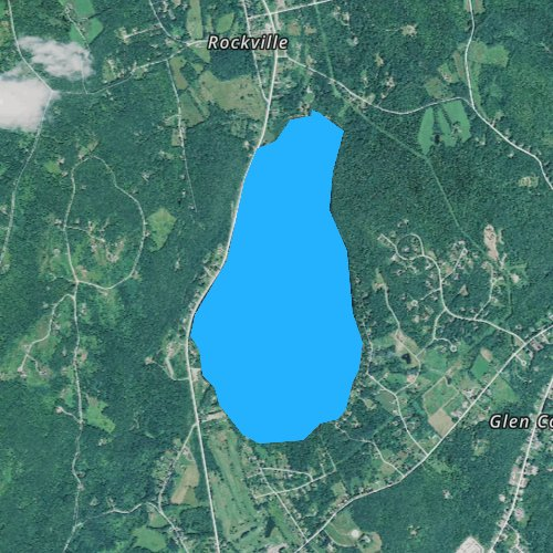Fly fishing map for Chickawaukie Pond, Maine