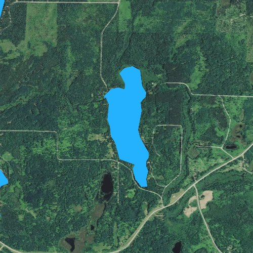 Fly fishing map for Chicog Lake, Wisconsin