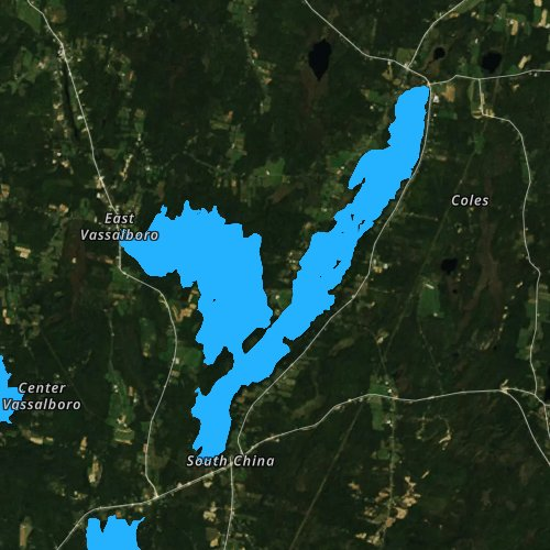 China Lake Maine Map.China Lake Maine Fishing Report