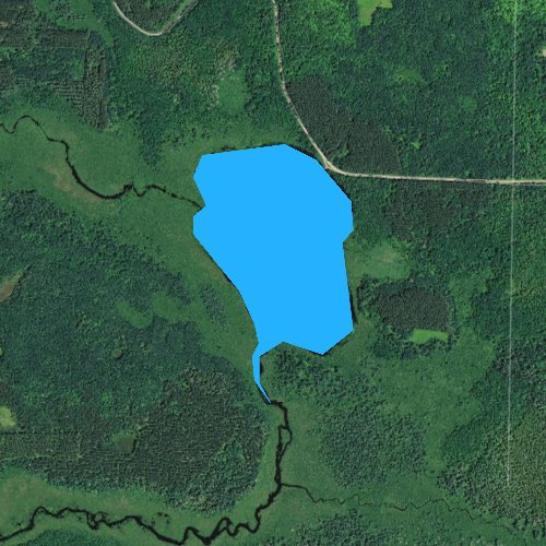Fly fishing map for Chippanazie Lake, Wisconsin