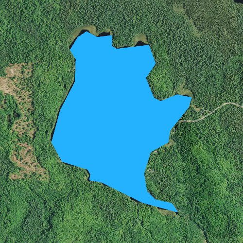 Fly fishing map for Christianson Lake, Minnesota