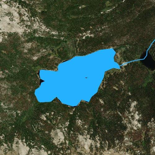 Fly fishing map for Christina Lake, Wyoming