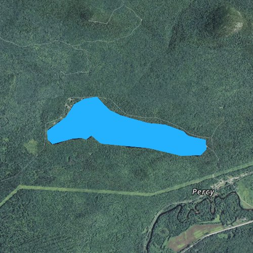 Fly fishing map for Christine Lake, New Hampshire