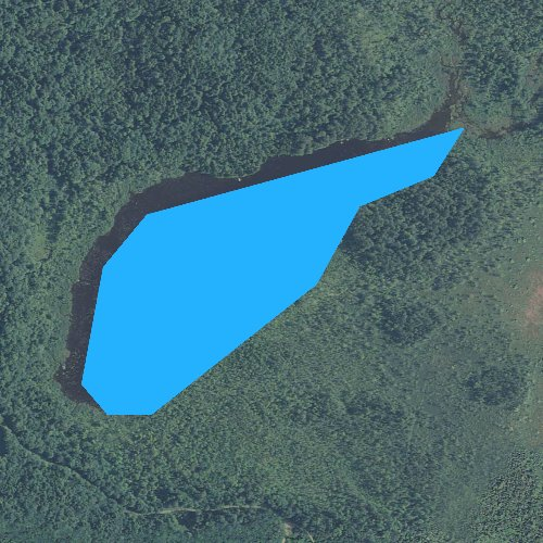 Fly fishing map for Church Ponds, New Hampshire