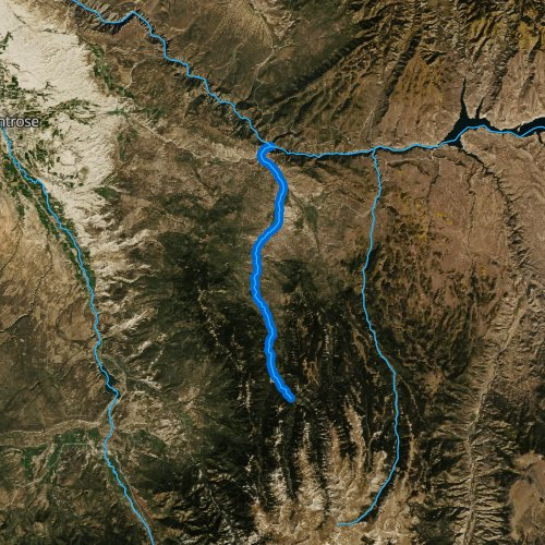 Fly fishing map for Cimarron River, Colorado