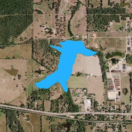 Fly fishing map for City Lake: Van Zandt, Texas