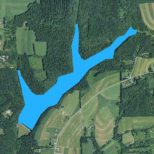 Fly fishing map for City Reservoir, Pennsylvania