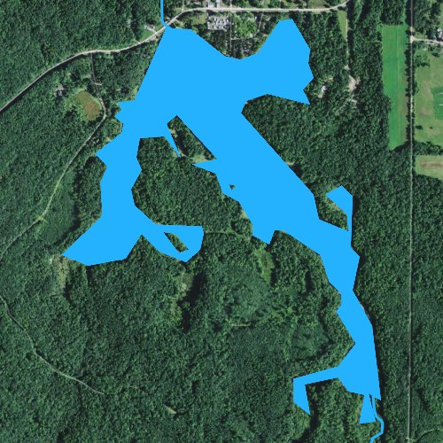 Fly fishing map for Clam Falls Flowage 65, Wisconsin