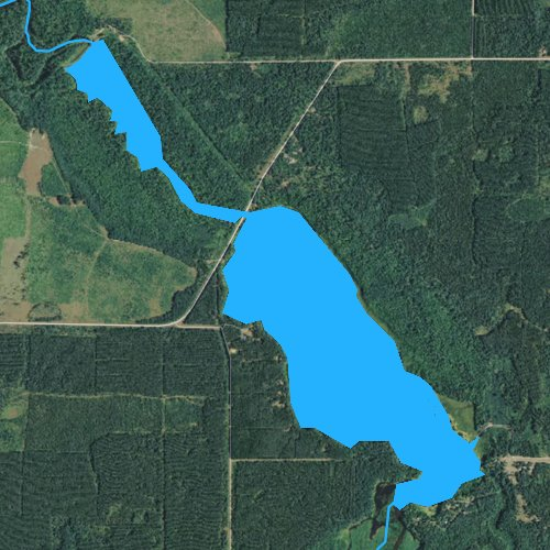 Fly fishing map for Clam River Flowage, Wisconsin
