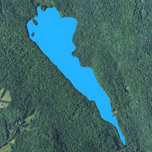 Fly fishing map for Clark Pond: Grafton, New Hampshire