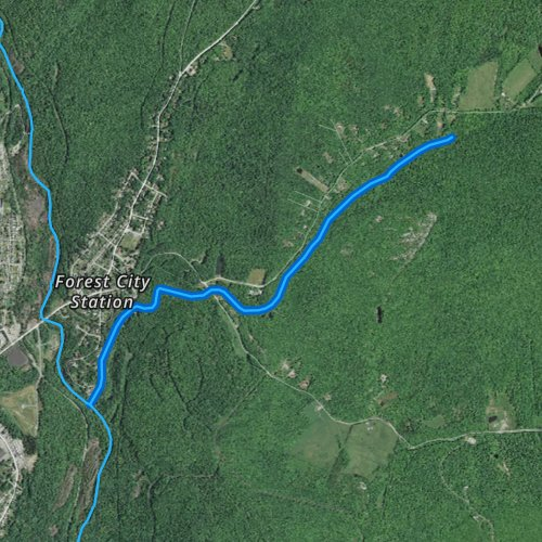 Fly fishing map for Clarks Creek, Pennsylvania