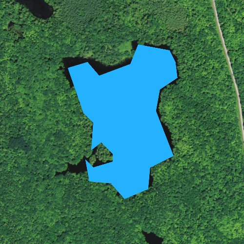 Fly fishing map for Clay Lake, Wisconsin