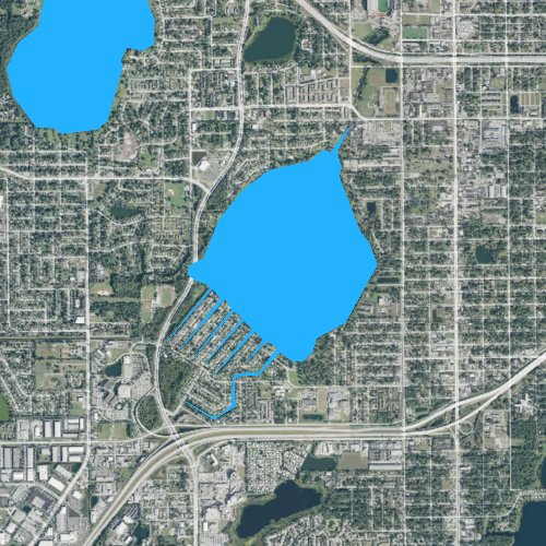 Fly fishing map for Clear Lake, Florida