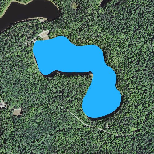 Fly fishing map for Clear Lake: Houghton, Michigan