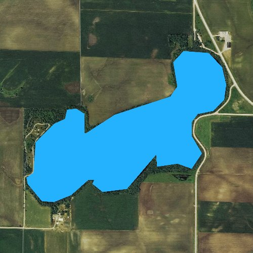 Fly fishing map for Clear Lake, Iowa