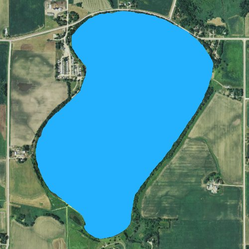 Fly fishing map for Clear Lake: Le Sueur, Minnesota