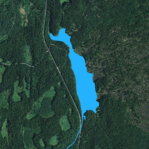 Fly fishing map for Clear Lake: Linn, Oregon