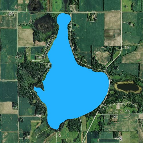 Fly fishing map for Clear Lake: Meeker, Minnesota