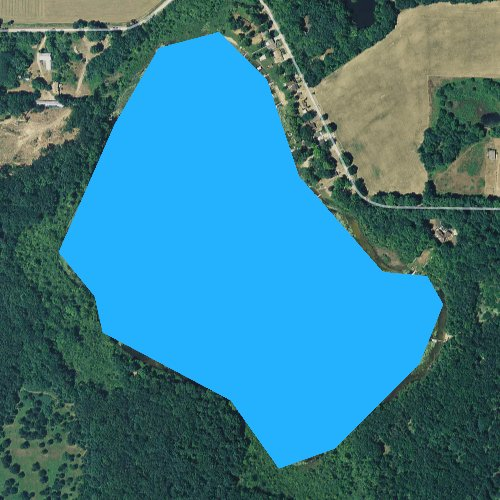 Fly fishing map for Clear Lake, Michigan