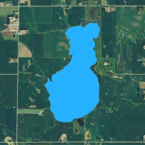 Fly fishing map for Clear Lake: Minnehaha, South Dakota