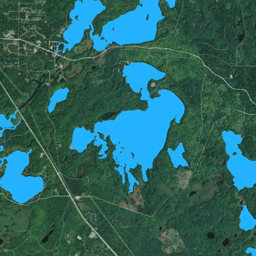 Fly fishing map for Clear Lake: Oneida, Wisconsin