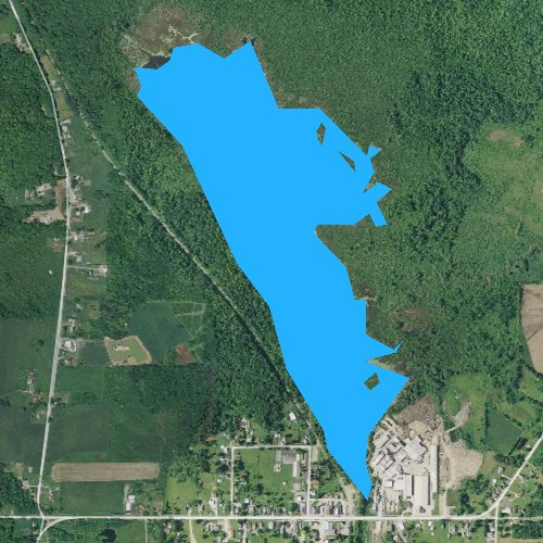 Fly fishing map for Clear Lake, Pennsylvania