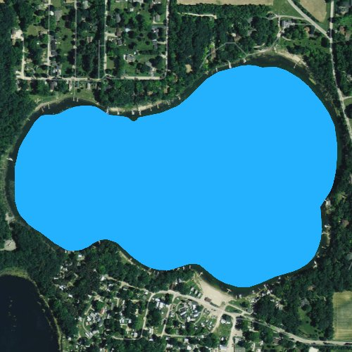 Fly fishing map for Clear Lake: Rock, Wisconsin