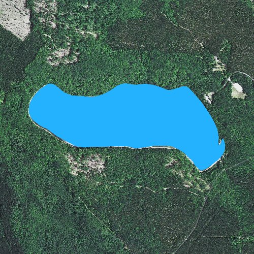 Fly fishing map for Clear Lake: Schoolcraft, Michigan