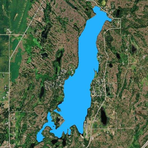 Fly fishing map for Clear Lake: Spokane, Washington