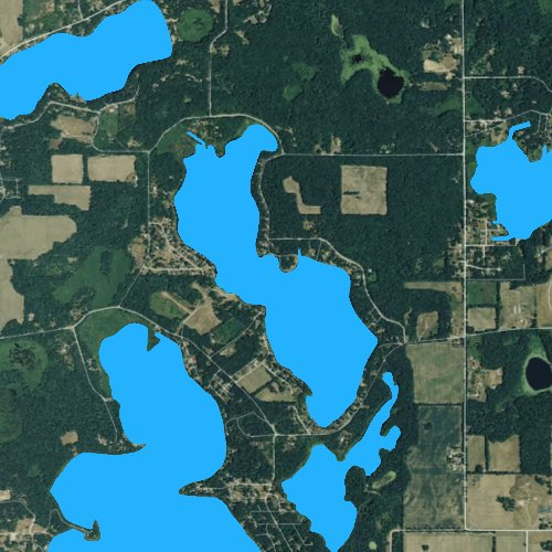 Fly fishing map for Clear Lake: St. Joseph, Michigan