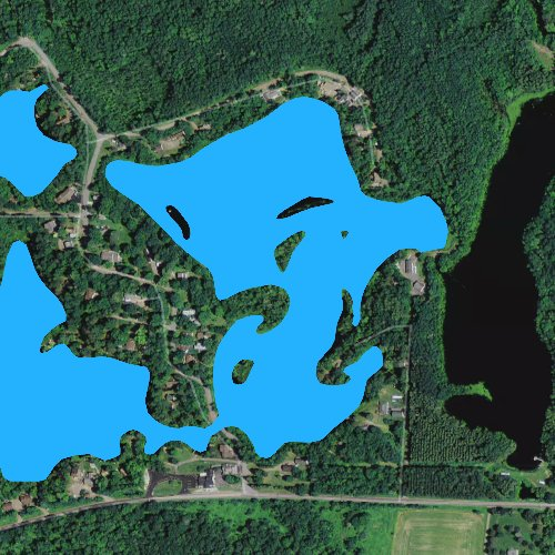 Fly fishing map for Clear Lake: Taylor, Wisconsin