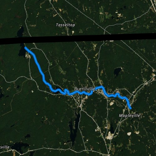 Fly fishing map for Clear River, Rhode Island