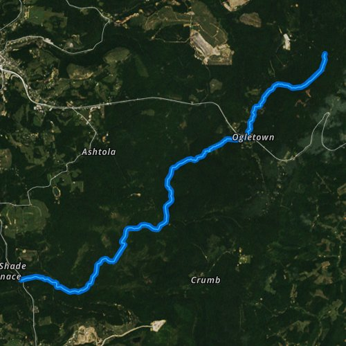 Fly fishing map for Clear Shade Creek, Pennsylvania