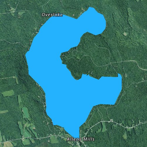Fly fishing map for Clearwater Pond, Maine