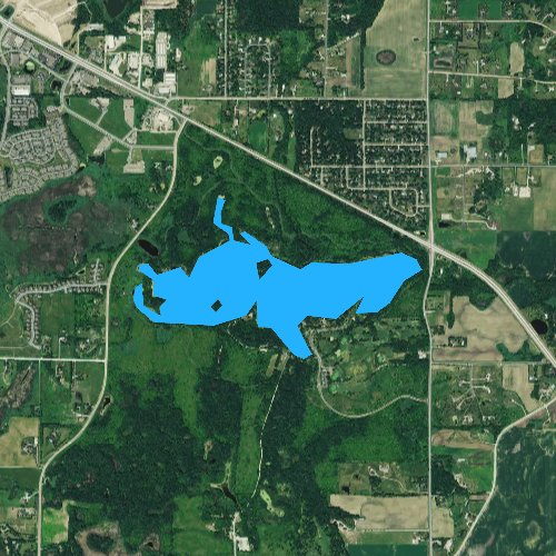Fly fishing map for Cleary Lake, Minnesota