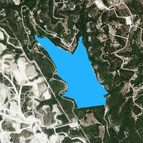 Fly fishing map for Cleburne State Park Lake, Texas