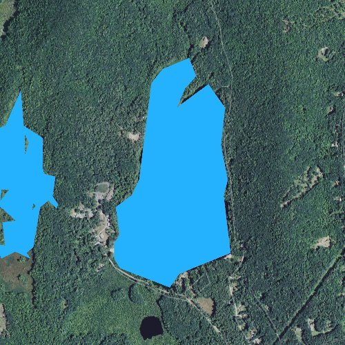 Fly fishing map for Clement Pond, New Hampshire