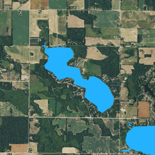 Fly fishing map for Clifford Lake, Michigan
