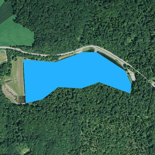 Fly fishing map for Cloe Lake, Pennsylvania