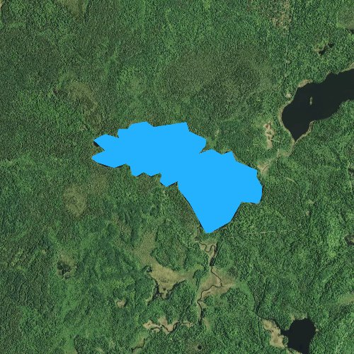 Fly fishing map for Cloquet Lake, Minnesota