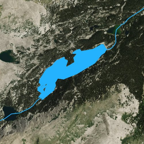 Fly fishing map for Cloud Peak Reservoir, Wyoming