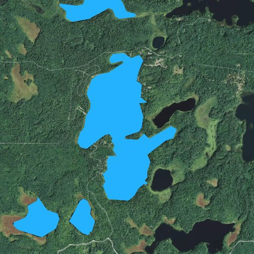 Fly fishing map for Clubhouse Lake, Minnesota