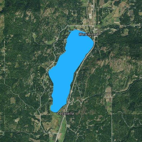 Fly fishing map for Cocolalla Lake, Idaho