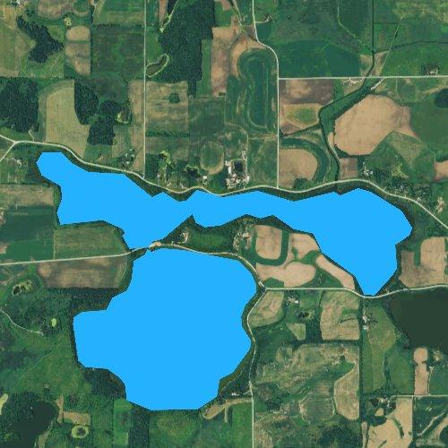 Fly fishing map for Cody Lake, Minnesota
