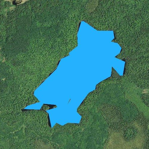 Fly fishing map for Coffee Lake, Minnesota